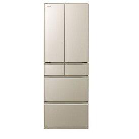 日立 R-HW52K-XN 6ドア冷蔵庫(520L・フレンチドア) プレーンシャンパン