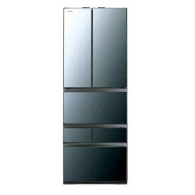 東芝 GR-R460FZ(XK) VEGETA(ベジータ) 6ドア冷蔵庫(461L・フレンチドア) クリアミラー