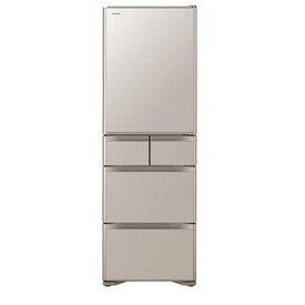 【無料長期保証】日立 R-S40J-XN 5ドア冷蔵庫(401L・右開き) クリスタルシャンパン