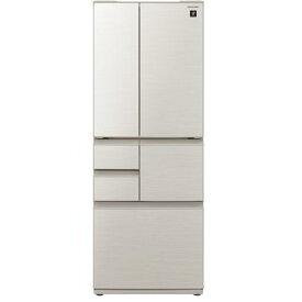 【無料長期保証】シャープ SJ-F502E-S 6ドア冷蔵庫(502L・フレンチドア) シルバー系