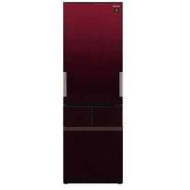 【無料長期保証】シャープ SJ-GT42E-R 4ドア冷蔵庫(415L・どっちもドア) グラデーションレッド