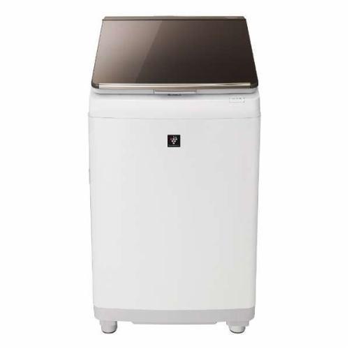 【ポイント10倍!5月25日(土)0:00〜5月28日(火)9:59まで】【無料長期保証】シャープ ES-PT10C-T 縦型洗濯乾燥機 (洗濯10.0kg/乾燥5.0kg) ブラウン