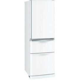 【ポイント10倍!10月20日(日)0:00〜23:59まで】三菱 MR-C37D-W 3ドア冷蔵庫 Cシリーズ (370L・右開き) パールホワイト
