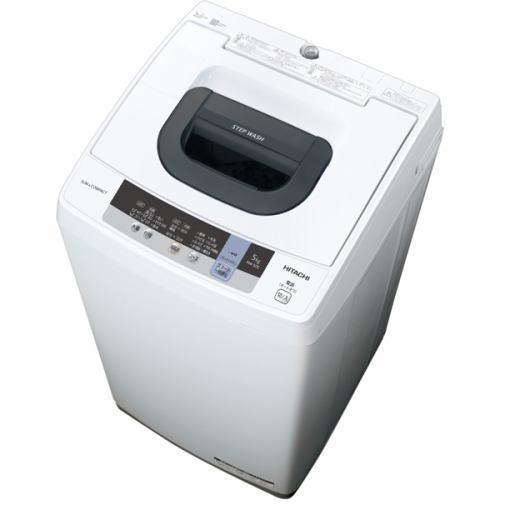 【ポイント10倍!5月25日(土)0:00〜5月28日(火)9:59まで】日立 NW-50C 全自動洗濯機 (洗濯5.0kg) ピュアホワイト