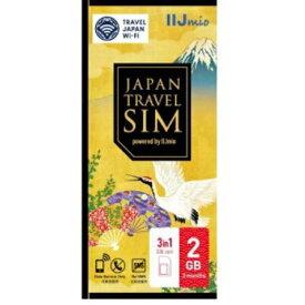 IIJ IM-B250 Japan Travel SIM 2GB(Type D) マルチSIM