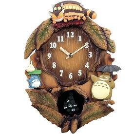 リズム時計 4MJ837M837N からくり時計 トトロM837N 茶