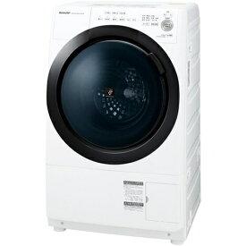 【無料長期保証】洗濯機 シャープ ドラム式 7KG ES-S7E-WL ドラム式プラズマクラスター洗濯乾燥機 (洗濯7kg/乾燥3.5kg 左開き) ホワイト系