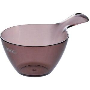 風呂桶 リッチェル カラリ 手おけ HG スモークブラウン 容量1L