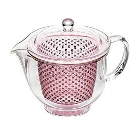 曙産業 クリアティーポット L (プラスチック製) ピンク