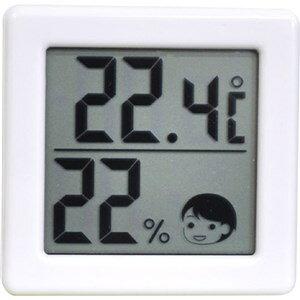 ドリテック O-257WT 小さいデジタル温湿度計 ホワイト