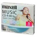 音楽用CD-R 80分 カラープリンタブル 5枚ケース