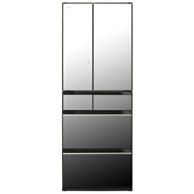 【無料長期保証】日立 R-HX60N X 6ドア冷蔵庫 (602L・フレンチドア) クリスタルミラー