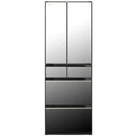 【無料長期保証】冷蔵庫 日立 500L以上 R-HX52N X 6ドア冷蔵庫 (520L・フレンチドア) クリスタルミラー