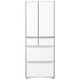 【無料長期保証】日立 R-X48N XW 6ドア冷蔵庫 (475L・フレンチドア) クリスタルホワイト