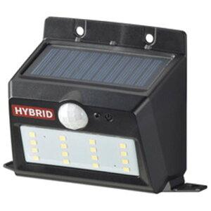 オーム電機 LS-SHB140PN4-K monban LEDセンサーウォールライト ソーラー&乾電池 400lm 置型 ブラック