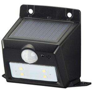 オーム電機 LS-S108PN4-K monban LEDセンサーウォールライト ソーラー 110lm 置型 ブラック