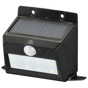 オーム電機 LS-S120PN4-K monban LEDセンサーウォールライト ソーラー 200lm 置型 ブラック
