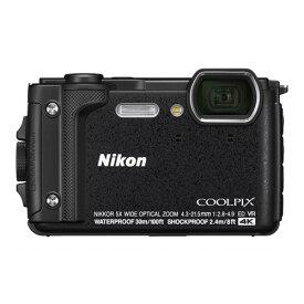 デジタルカメラ ニコン Nikon W300BK COOLPIX ブラック デジカメ 防水