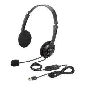 バッファロー BSHSUH12BK 両耳ヘッドバンド式ヘッドセット USB接続 ブラック