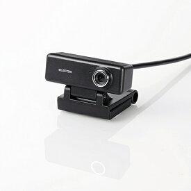 エレコム UCAM-C520FBBK 高画質HD対応200万画素Webカメラ