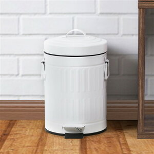 ゴミ箱 おしゃれ ふた付き ペダル開閉式 3L ホワイト ステンレス ヤマダオリジナル 中バケツが取り出せるペダル式ゴミ箱