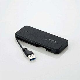 エレコム ESD-EC0480GBKR ケーブル収納型外付けポータブルSSD ブラック