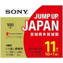 ソニー 11BNE3VZPS2 BDメディア100GB ビデオ用 2倍速 BD-RE XL 11枚パック ホワイト ブルーレイディスク