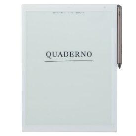 電子ペーパー 電子ノート 富士通 FUJITSU QUADERNO A4サイズ ホワイト FMV-DPP03 電子メモ A4