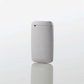 エレコム ESD-EF0500GSVR USB Type-Cケーブル付き外付けポータブルSSD 500GB シルバー