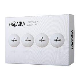 HONMA D1ゴルフボール12球入り ホワイト ゴルフボール D1 12球入 ホワイト