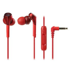 オーディオテクニカ ATH-CKS550XiS-RD 【ハイレゾ音源対応】 スマートフォン用イヤホン レッド