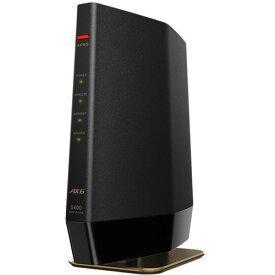 バッファロー WSR-5400AX6-MB Wi-Fi 6(11ax)対応 無線LANルーター プレミアムモデル マットブラック