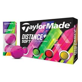 TaylorMade(テーラーメイド) DISTANCE+SOFTボール 1ダース(12球入)/マルチカラー