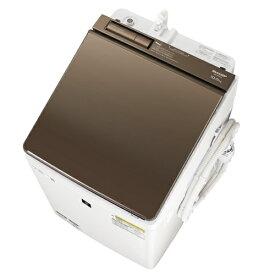 【無料長期保証】シャープ ES-PW10E 縦型洗濯乾燥機 (洗濯10.0kg/乾燥5.0kg) COCORO WASH ブラウン系