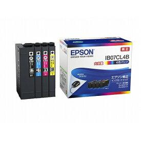 インク エプソン 純正 カートリッジ インクカートリッジ IB07CL4B インクカートリッジ 4色パック