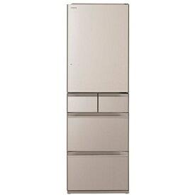【無料長期保証】日立 R-HWS47N XN 5ドア冷蔵庫 (470L・右開き) クリスタルシャンパン
