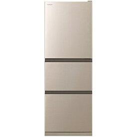 【無料長期保証】日立 R-27NV N 3ドア冷蔵庫(265L・右開き) シャンパン