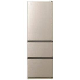 【無料長期保証】冷蔵庫 日立 2人暮らし R-V38NV N 3ドア冷蔵庫(375L・右開き) シャンパン