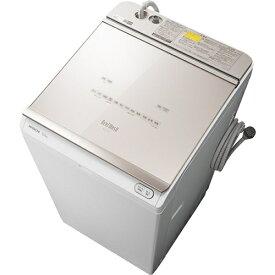 【無料長期保証】洗濯機 日立 乾燥機付き 12KG BW-DKX120F N 縦型洗濯乾燥機 (洗濯12kg) ビートウォッシュ シャンパン