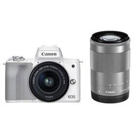 キヤノン EOSKISSM2 WZKWH デジタル一眼カメラ EOS KISSM2 ダブルズームキット ホワイト