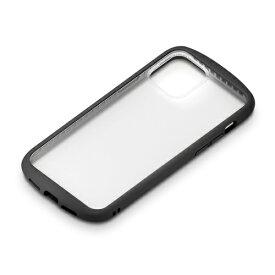 PGA PG-20GGT01BK iPhone12/iPhone12 Pro用 ガラスタフケース(ラウンド型) Premium Style ブラック
