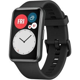 HUAWEI ファーウェイ WATCH FIT/BK Graphite Black TIA-B09 スマートウォッチ 腕時計 心拍数 GPS 歩数 睡眠 血中酸素測定