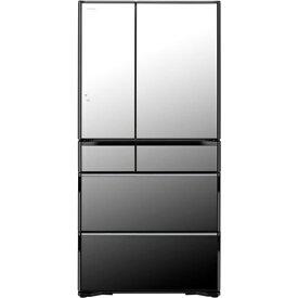 【無料長期保証】日立 RWXC74N X 6ドア冷蔵庫 (735L・フレンチドア) クリスタルミラー