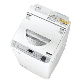【無料長期保証】シャープ ES-TX5E-S タテ型洗濯乾燥機 (洗濯5.5kg・乾燥3.5kg) シルバー系