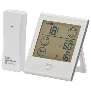 オーム電機 TEM-700-W 室外の気温がわかる温湿度計
