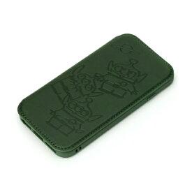 PGA PG-DGF20M02LGM iPhone SE/8/7/6s/6用ガラスフリップケース Premium Style エイリアン