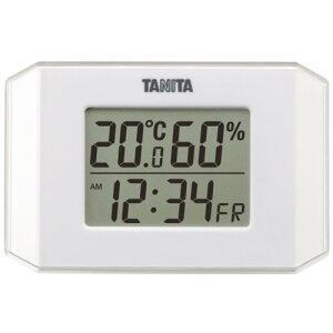 タニタ TT-574-WH デジタル温湿度計 ホワイト