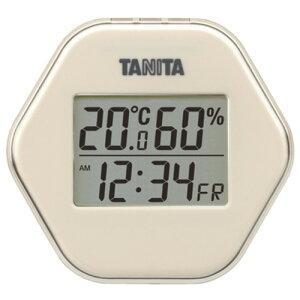 タニタ TT-573-IV デジタル温湿度計 アイボリー