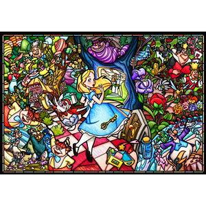 テンヨー ディズニー ふしぎの国のアリス ストーリー ステンドグラス(ピュアホワイト)1000ピースジグソーパズル