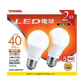 東芝 LDA4L-G/K40V1P LED電球 E26 電球色